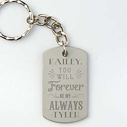 Love Quotes Dog Tag Keychain