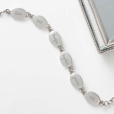 Loving Message 6-1/2-Inch Silver Link Bracelet