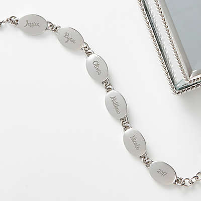 Family Connections 6-1/2-Inch Silver Link Bracelet