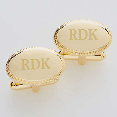 Elite Collection Engraved Gold Cufflinks