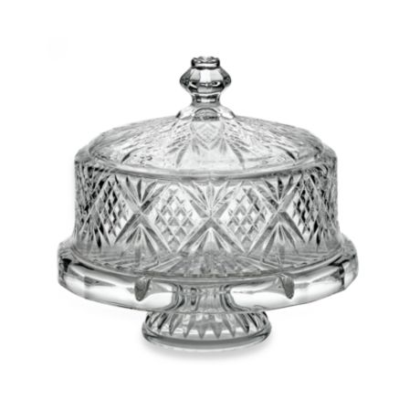 Godinger Dublin Crystal 4 In 1 Footed Cake Plate With