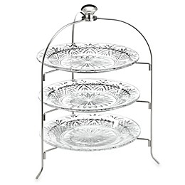 Godinger Dublin Crystal 3-Tier Serving Rack