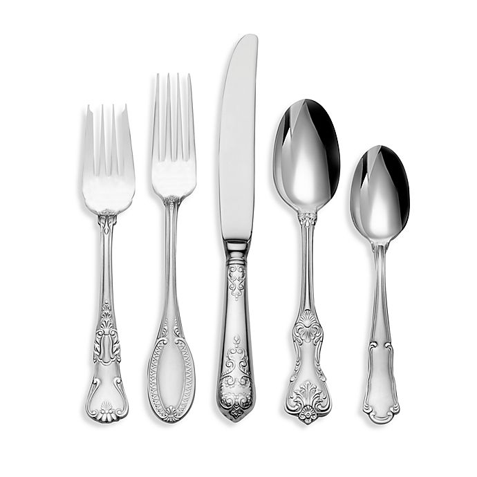 Alternate image 1 for Wallace® Hotel Lux 77-Piece Flatware Set