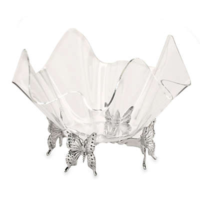 Arthur Court Designs Butterfly Stand with Acrylic Bowl