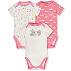 Gerber® Organic Newborn 3-Pack Cotton Bunny Bodysuits