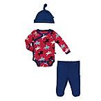Kickee Pants® Newborn 3-Piece Cowboy Kimono Bodysuit, Pant, and Hat Set in Red/Blue