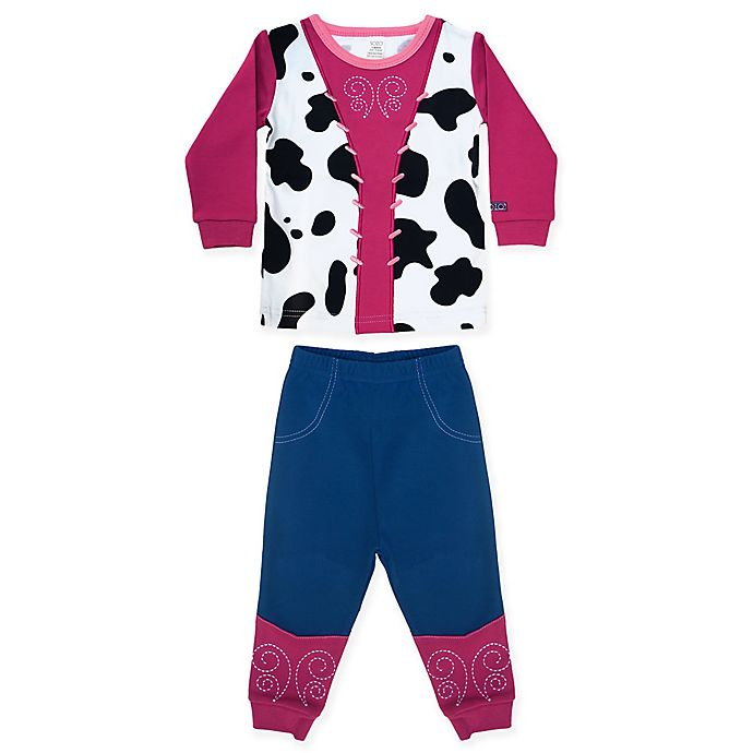Alternate image 1 for Sozo® Size 18M 2-Piece Cowgirl Long Sleeve PJ Set in Pink