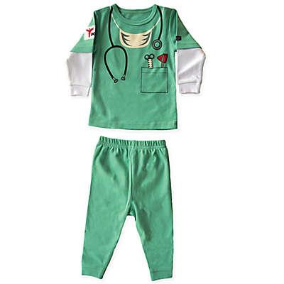 Sozo® 2-Piece Doctor Pajama in Green