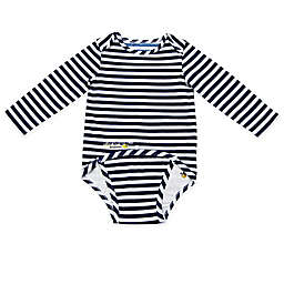 EZ-On BaBeez™ Stripe Long Sleeve Bodysuit in Blue/White