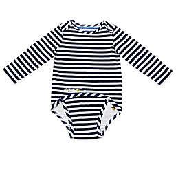 EZ-On BaBeez™ Stripe Long Sleeve Bodysuit in Blue/White