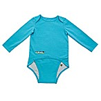 EZ-On BaBeez™ Size 6-9M Long Sleeve Bodysuit in Aqua