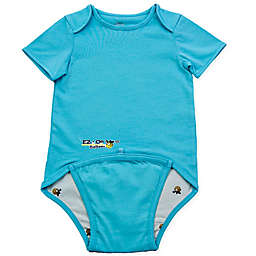 EZ-On BaBeez™ Short Sleeve Bodysuit in Aqua