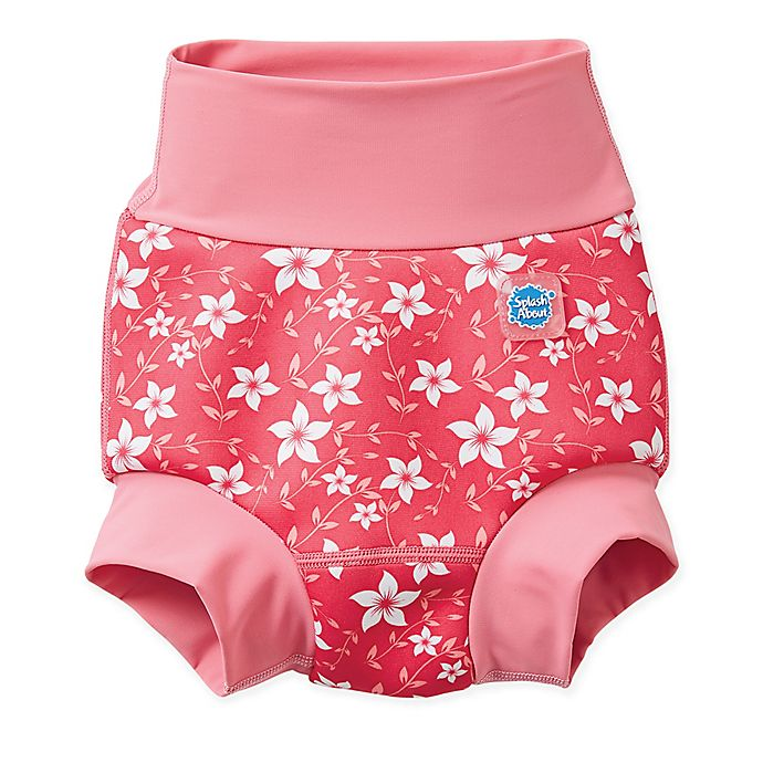 Alternate image 1 for Splash About Size 12-24M Happy Nappy™ Blossom Swim Diaper in Pink