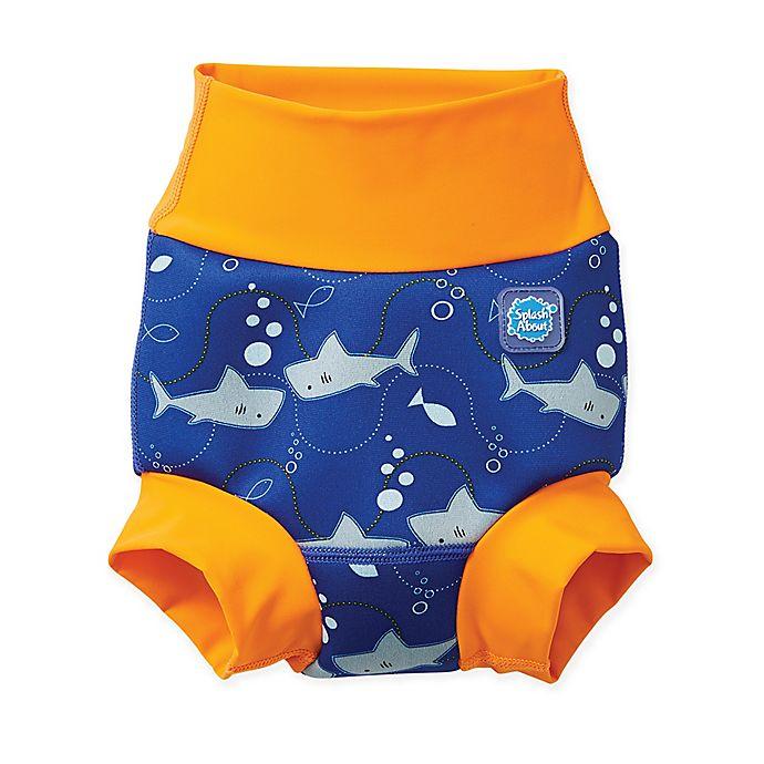 Alternate image 1 for Splash About Size 3-8M Happy Nappy™ Shark Swim Diaper in Orange