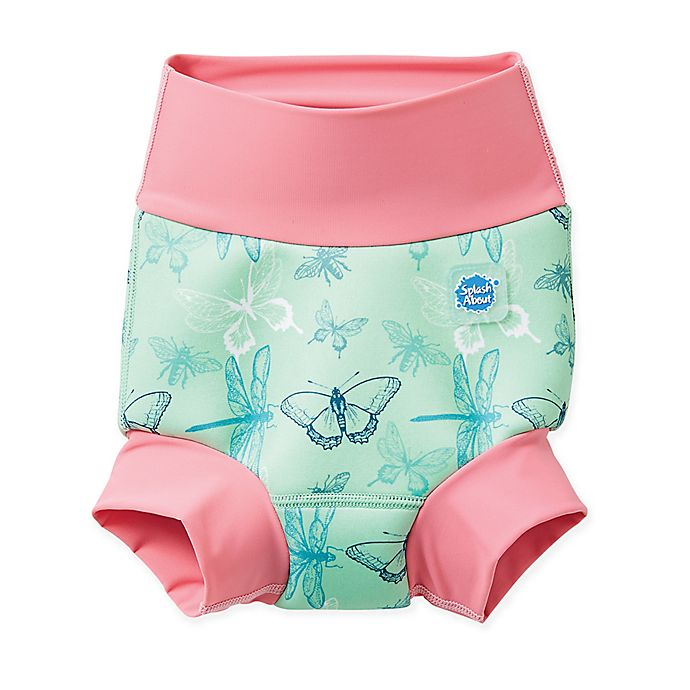 Alternate image 1 for Splash About Size 0-4M Happy Nappy™ Dragonfly Swim Diaper in Green