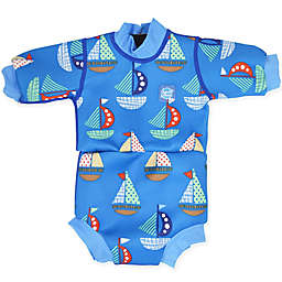 Splash About Happy Nappy™ Set Sail Wetsuit in Blue