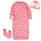 "Gerber® Organic Size 0-6M 4-Piece ""Hello"" Cotton Gown Set in Coral"
