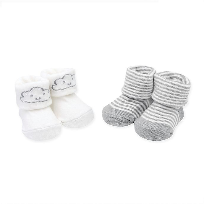 ac0da702f carter's® Newborn 2-Pack Clouds and Stripes Booties | Bed Bath & Beyond