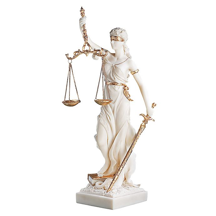Alternate image 1 for Design Toscano Themis Blind Justice Bonded Marble Statue