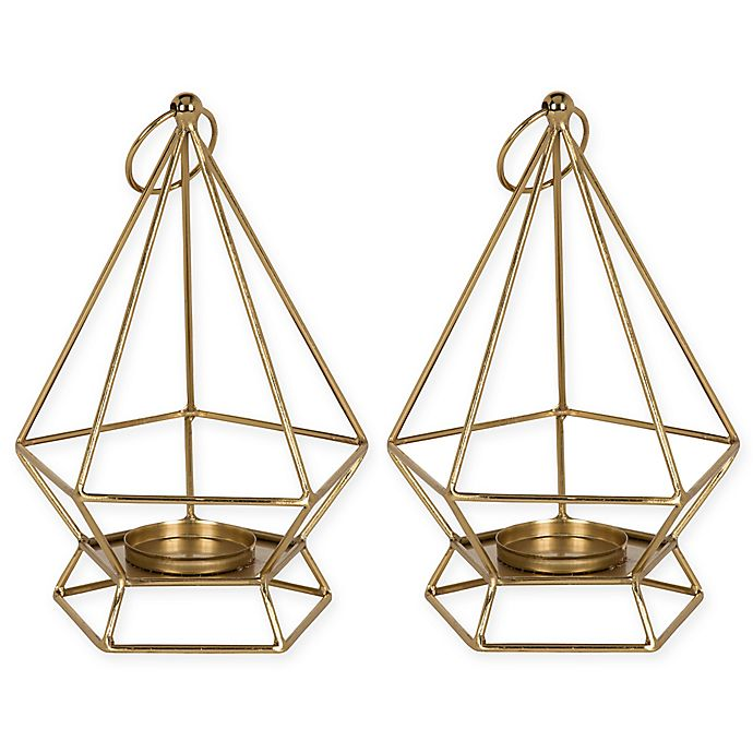 Alternate image 1 for Kate and Laurel Stroud Candle Holders in Gold (Set of 2)