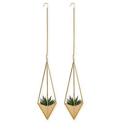 Kate and Laurel Aventura 2-Piece Planter Set in Gold