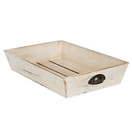 Kate and Laurel Woodmont Rectangular Wooden Decorative Tray