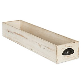 Kate and Laurel Woodmont Narrow Wooden Decorative Tray