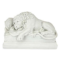 Design Toscano Lion of Lucerne Bonded Marble Resin 11-Inch x 7-Inch Statue