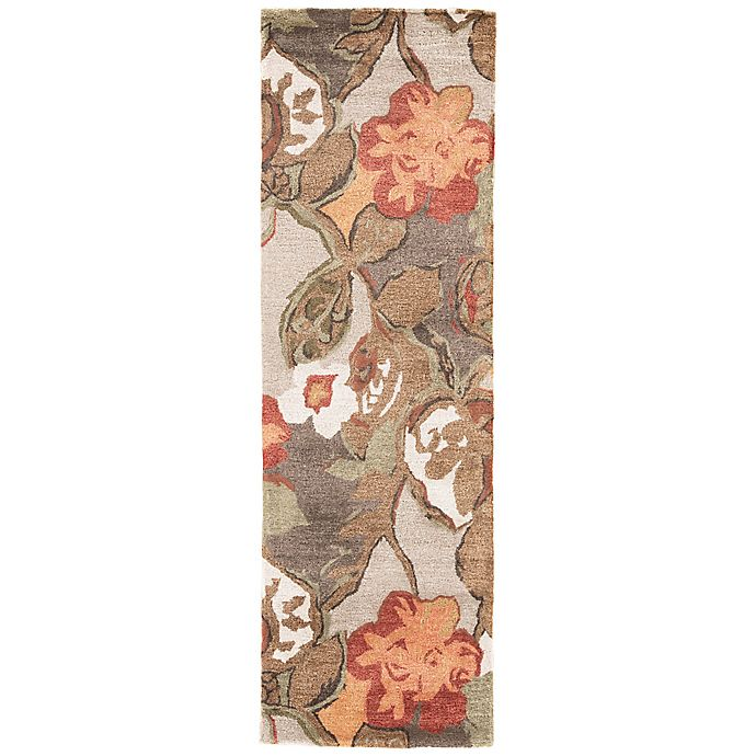 Alternate image 1 for Jaipur Blue Collection Floral 2-Foot 6-Inch x 8-Foot Runner in Brown/Orange
