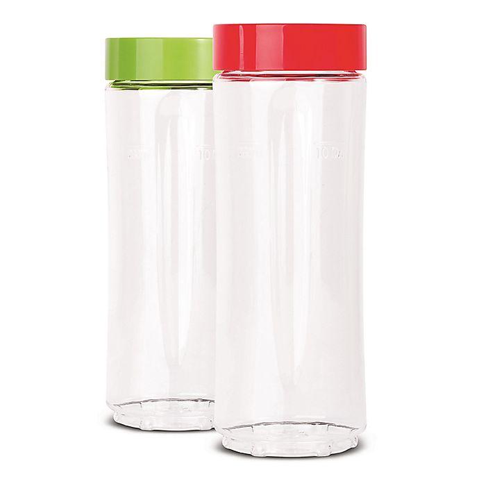 Alternate image 1 for Euro Cuisine® 2-Piece 10 oz. Bottles Set for Mini Mixx Personal Blender