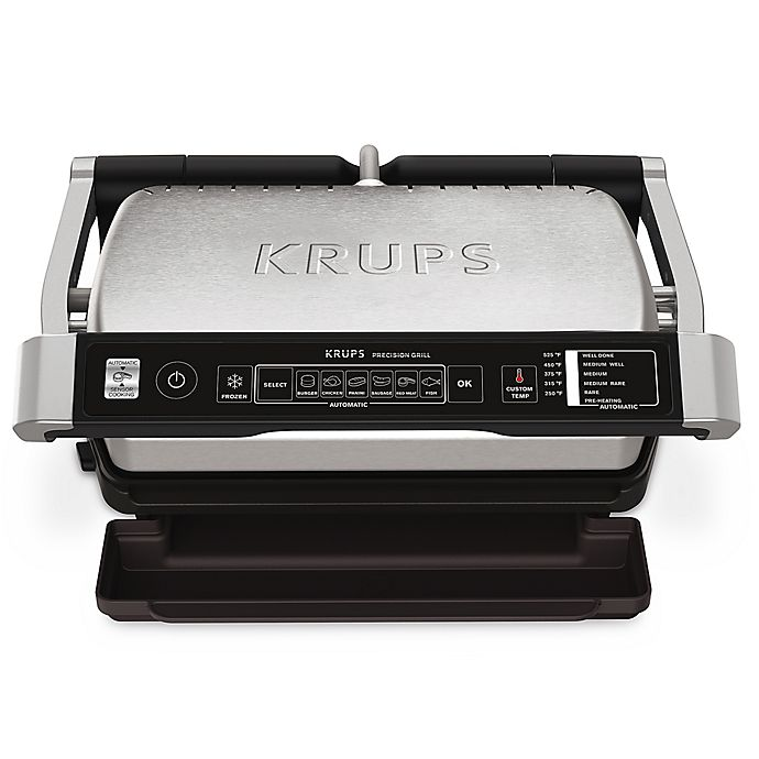 Krups Precision Indoor Electric Grill In Stainless Steel