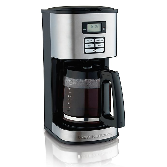 Alternate image 1 for Hamilton Beach® 12-Cup Programmable Coffee Maker in Black