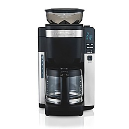 Hamilton Beach® 12-Cup Auto Grounds Dispensing Coffee Maker in Black