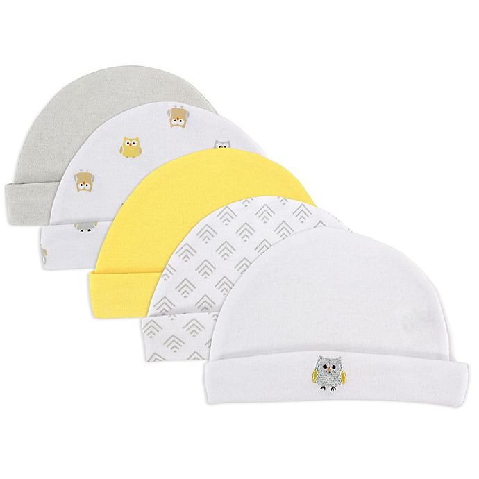 Alternate image 1 for Luvable Friends® 5-Pack Owl Caps in Yellow