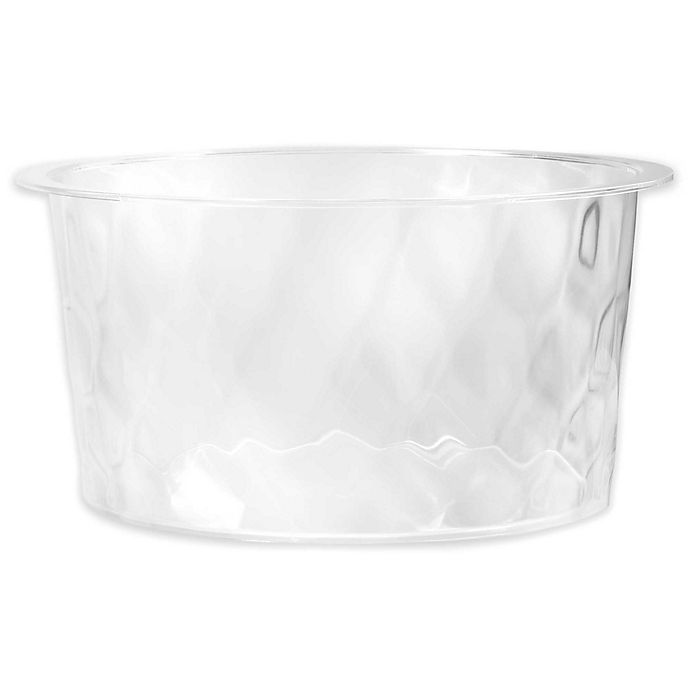 Alternate image 1 for Rippled Clear 6-Gallon Indoor/Outdoor Ice Tub
