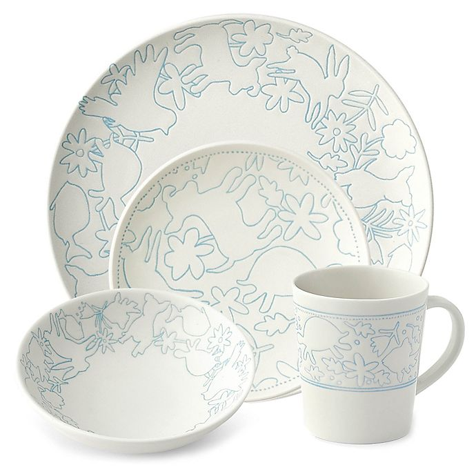 Alternate image 1 for ED Ellen DeGeneres Crafted by Royal Doulton® Polar Blue Animals Dinnerware Collection