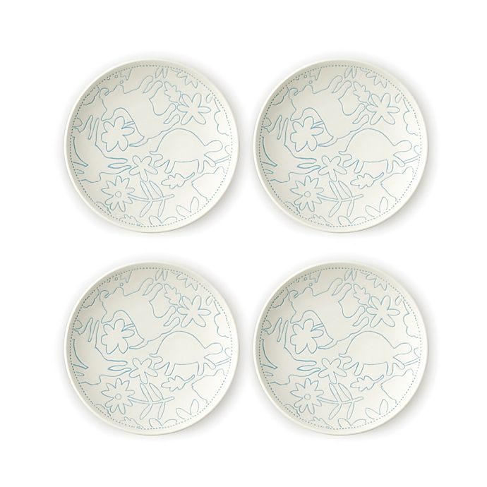 Alternate image 1 for ED Ellen DeGeneres Crafted by Royal Doulton® Polar Blue Animals Tidbit Plates (Set of 4)