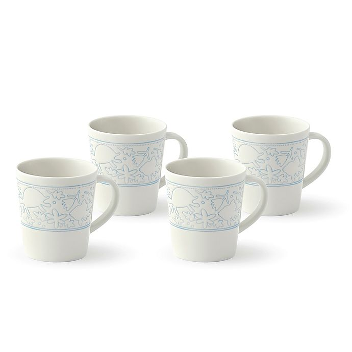 Alternate image 1 for ED Ellen DeGeneres Crafted by Royal Doulton® Polar Blue Animals Mugs (Set of 4)