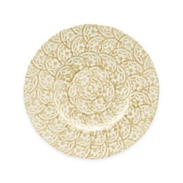 Euro Ceramica Chlore Dessert Plates in Beige (Set of 4)