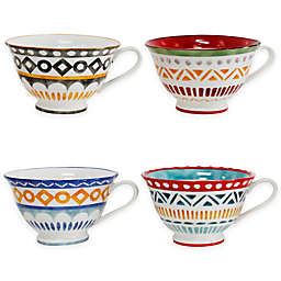 Euro Ceramica Amalfi Mix & Match Latte Mugs (Set of 4)