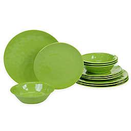 Certified International 12-Piece Melamine Dinnerware Set in Green