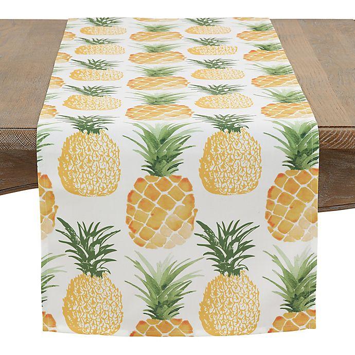 Alternate image 1 for Saro Lifestyle 72-Inch Pineapple Table Runner