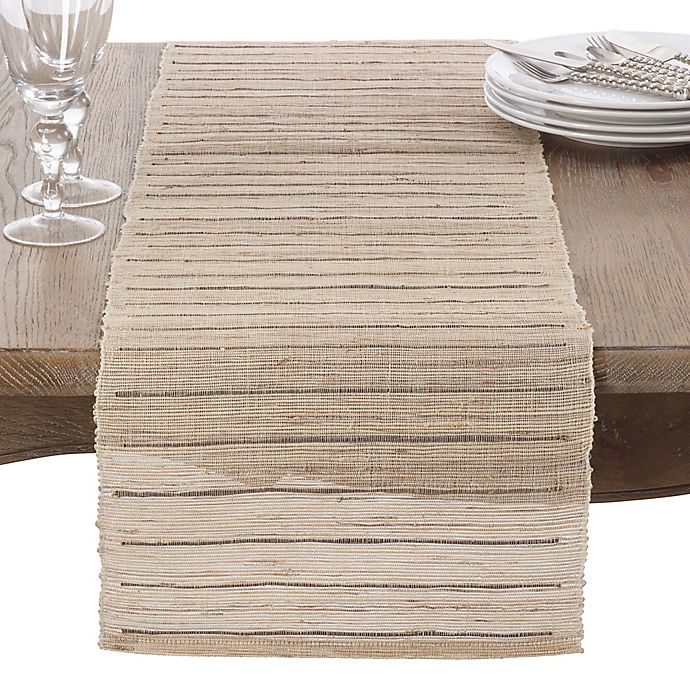 Alternate image 1 for Saro Lifestyle 72-Inch Emiliana Table Runner in Natural