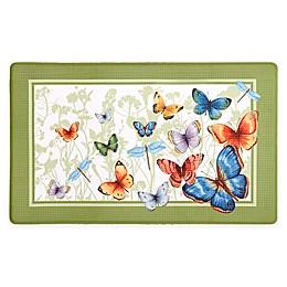 Achim Butterflies 18-Inch x 30-Inch Anti-Fatigue Kitchen Mat
