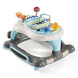 Storkcraft 3-in-1 Activity Walker with Jumping Board and Feeding Tray (Blue/Grey)