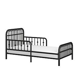 Little Seeds Piper Metal Toddler Bed in Black