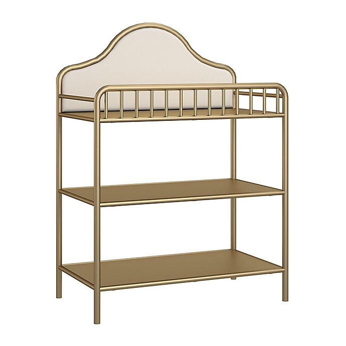 Alternate image 1 for Little Seeds Piper Metal Changing Table in Gold