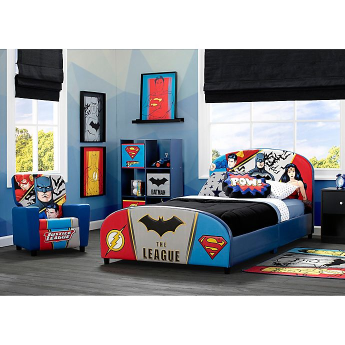 Alternate image 1 for Justice League Child's Bedroom Upholstered Furniture Collection