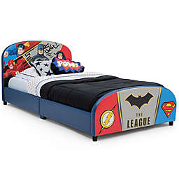 Justice League Upholstered Twin Bed by Delta Children