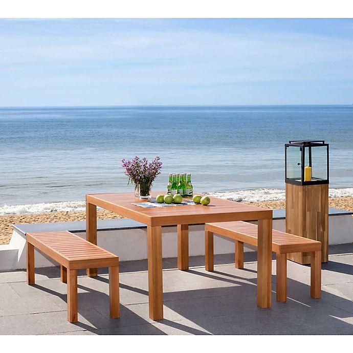 Alternate image 1 for Safavieh Dario 3-Piece Wood Dining Set in Teak